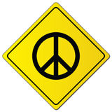 Peace sign on yellow sign vector illustration