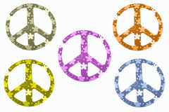 Peace Signs Isolated Royalty Free Stock Photo