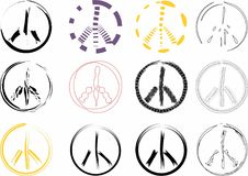 Peace signs stock photo
