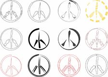 Peace signs Royalty Free Stock Photography