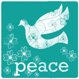 Peace and silhouettes Royalty Free Stock Images