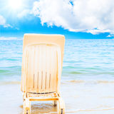 Peace is sitting near waves Royalty Free Stock Image