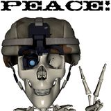 Peace skull Stock Photos