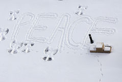 Peace on snow Royalty Free Stock Images