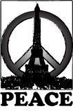 Peace and solidarity for Paris vintage stlye Paris, france Royalty Free Stock Photos