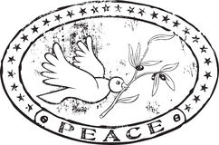 Peace stamp. Abstract grunge rubber stamp with the text peace Stock Images