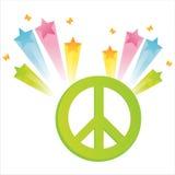 Peace with star splash Stock Photos