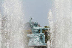 Peace statue and fountain of peace Royalty Free Stock Images