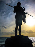 The peace of the statue of the Guanche King Stock Images