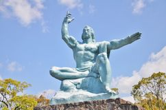 Peace Statue in Nagasaki Peace Park, Japan. Royalty Free Stock Images