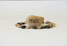 Peace stone. Black and white peace in stone Stock Image