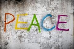Peace street graffiti Royalty Free Stock Images