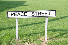 Peace street sign Stock Image