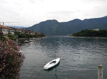 Peace surrounded by water. Beautiful Como Lake in Italy Royalty Free Stock Photo