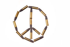 Peace symbol. Made of bullets Royalty Free Stock Image