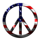 Peace symbol. With integrated american flag vector illustration