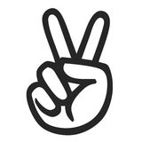 Peace symbol Stock Photography