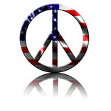 Peace symbol. With an integrated american flag vector illustration