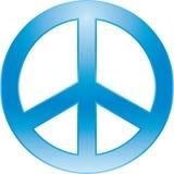 Peace symbol. Peace blue symbol (vector enable Stock Photos