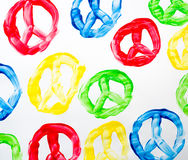 Peace symbol abstract Royalty Free Stock Photo