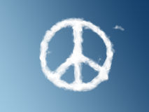 Peace symbol as a cloud royalty free illustration