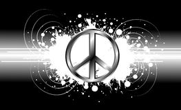 Peace symbol on black background Royalty Free Stock Image