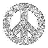 Peace symbol on black background Royalty Free Stock Image