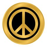 Peace symbol buttom. Peace symbol button on white background. Vector illustration Royalty Free Stock Photos