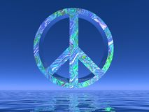 Peace symbol - 3D render Stock Photography