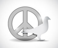 Peace symbol and dove illustration design Royalty Free Stock Photos