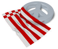 Peace symbol and flag of bremen Royalty Free Stock Photo