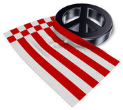 Peace symbol and flag of bremen Stock Photography