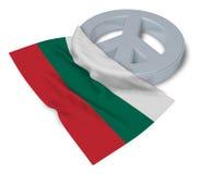 Peace symbol and flag of bulgaria Stock Image