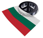 Peace symbol and flag of bulgaria Royalty Free Stock Photography