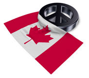 Peace symbol and flag of canada Royalty Free Stock Photo