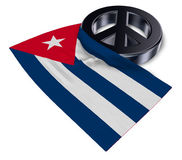 Peace symbol and flag of cuba Stock Images