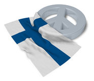 Peace symbol and flag of finland Royalty Free Stock Image