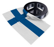 Peace symbol and flag of finland Stock Photo