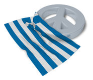 Peace symbol and flag of greece Stock Image