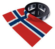 Peace symbol and flag of norway. 3d rendering Stock Photos