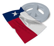 Peace symbol and flag of texas Royalty Free Stock Photo