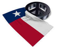 Peace symbol and flag of texas Stock Image
