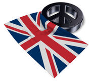 Peace symbol and flag of the uk Royalty Free Stock Images
