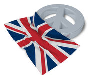 Peace symbol and flag of the uk Stock Photo