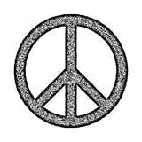 Peace symbol, Hand drawn brush, illustration. Peace symbol, Hand drawn brush, stamp style, vector illustration Royalty Free Stock Photos