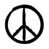 Peace symbol, Hand drawn brush, illustration. Peace symbol, Hand drawn brush, vector illustration Royalty Free Stock Photo