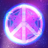 Peace symbol with mandala . Round Pattern. Vintage style decorat Royalty Free Stock Images