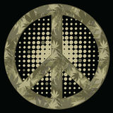 Peace symbol. Military style. Stock Photography