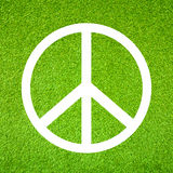 Peace symbol. Over green grass Stock Image