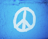 Peace symbol painted on wall Royalty Free Stock Photo